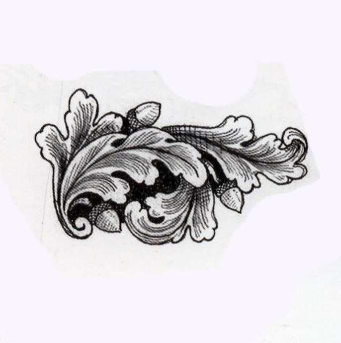 Дубовый лист картинка тату
