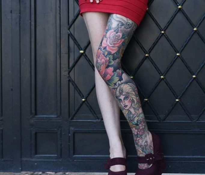 tattoo-on-a-leg-for-girls-hgretwrhgev