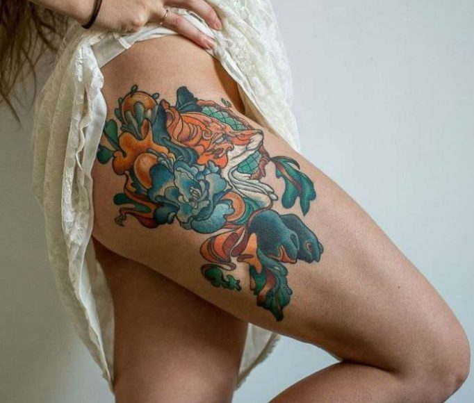 tattoo-on-a-leg-for-girls-t546jhr