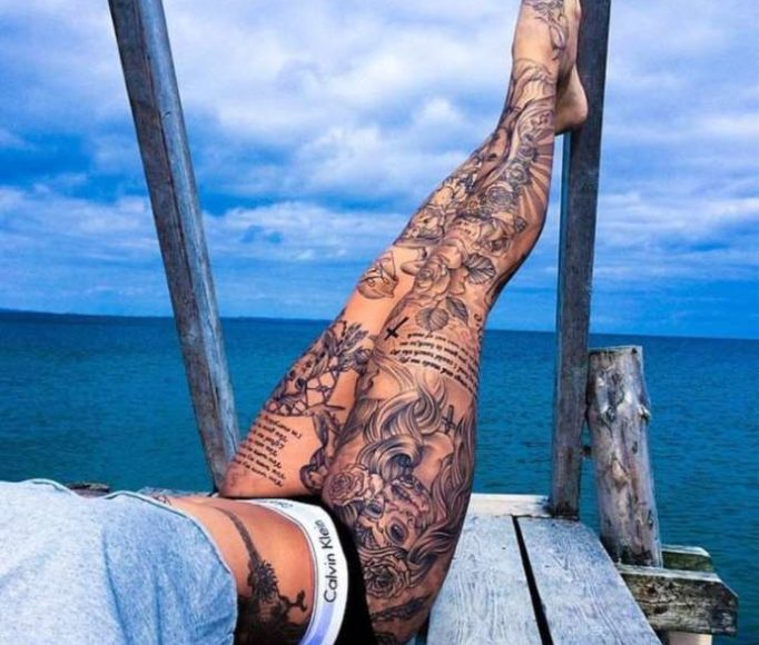 tattoo-on-a-leg-for-girls-ty54w635h
