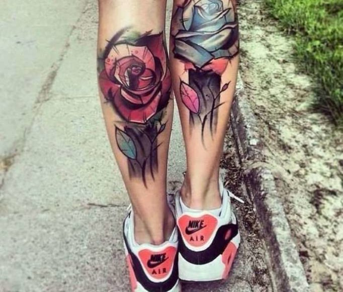 tattoo-on-a-leg-for-girls-yr54w35h24gef