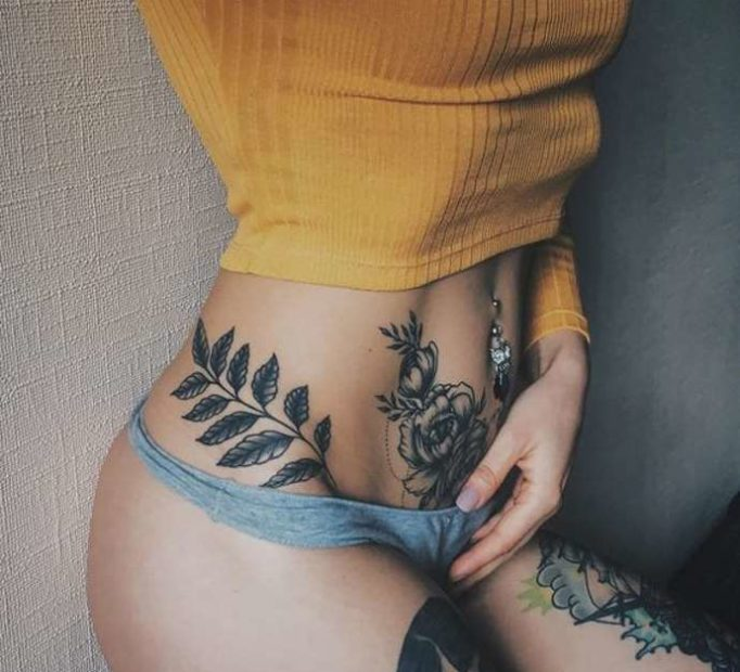 tattoo-on-a-stomach-for-girls-yrj56435h4gfe